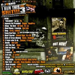 DJ4Sho I Run This Sh*t 3 Back Cover