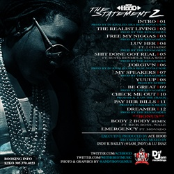 Ace Hood The Statement 2 Back Cover