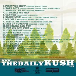 Don Cannon & DJ Drama Asher Roth 'The Greenhouse Effect' Back Cover