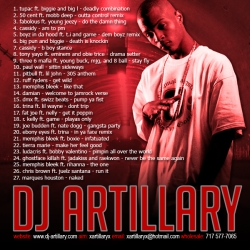 DJ Artillary Blends Vol. 3 Back Cover