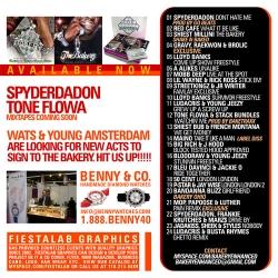 The Bakery/Sauce Scrilla Enchanced Mixtape/DVD/Magazine Back Cover