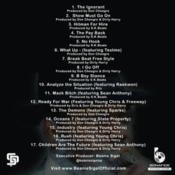 Beanie Sigel Broadstreet Empire Vol. 1: Lost Files Back Cover