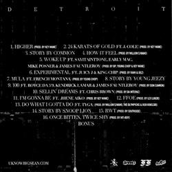 Big Sean Detroit Back Cover