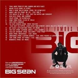 Big Sean Finally Famous Volume 3: BIG (No DJ) Back Cover