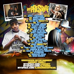 Cassidy, DJ Thoro & Big Mike Apply Pressure Back Cover