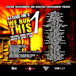 DJ Cease Fire We Run This Pt. 1 Back Cover