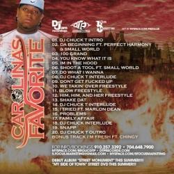 Brolic D & DJ Chuck T Carolina's Favorite Mixtape Back Cover