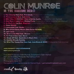 Colin Munroe Is The Unsung Hero Back Cover