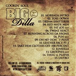 Cookin' Soul, Big Pun & Jay Dilla Big Dilla Back Cover