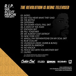 Cookin Soul & Gil Scott-Heron The Revolution Is Being Televised: A Tribute To Gil Scott-Heron Back Cover