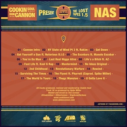Nas, Don Cannon & Cookin' Soul Lost Tapes 1.5 Back Cover