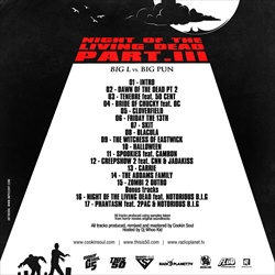 DJ Whoo Kid & Cookin Soul Night of The Living Dead Pt. 3 Back Cover
