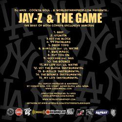 Cookin Soul, DJ Haze & Worldstarhiphop.com Jay-Z & The Game 'The Best Of Both Coasts' Back Cover