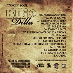 Cookin Soul, Big Pun & J Dilla Big Dilla Back Cover