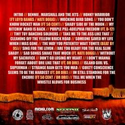 DJ Crazy Chris Eminelton 'The Honky Cat Mixtape' Back Cover