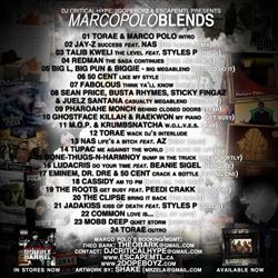 DJ Critical Hype, 2DopeBoyz & EscapeMTL  Marco Polo Blends Back Cover