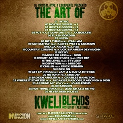 DJ Critical Hype The Art of Kweli Blends Back Cover