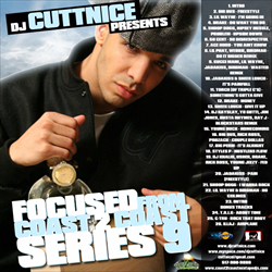 DJ Cutt Nice Focused From Coast 2 Coast 9 Front Cover