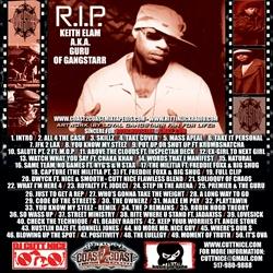DJ Cutt Nice Something Epic Gangstarr Classics Disc 1 Back Cover
