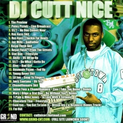 DJ Cutt Nice Grind Time 'The Preview' Back Cover