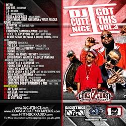 DJ Cutt Nice I Got This Vol. 3 Back Cover