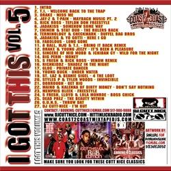 DJ Cutt Nice I Got This Vol. 5 Back Cover