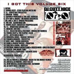 DJ Cutt Nice I Got This Vol. 6 Back Cover