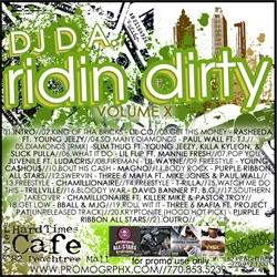 DJ D.A. Ridin Dirty Vol. X Back Cover