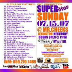 DJ DCeezy Superstar Sunday Back Cover