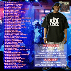 DJ DCeezy Ya Heard About Phsyc Mike Back Cover