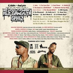 DJ Drama & Dead Prez Revolutionary But Gangsta Grillz Mixtape Back Cover