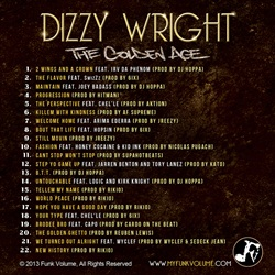 Dizzy Wright The Golden Age Back Cover