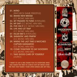 DJ Crazy Chris Bionic Blendz Vol. 3 Back Cover