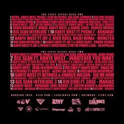 DJ E-V & Kanye West The Yeezy Effect CD 1 Back Cover