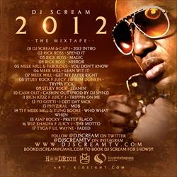 DJ Scream 2012 Back Cover