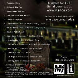Timbaland & D.O.E. The Fall Of John Doe...The Rise Of D.O.E. Back Cover