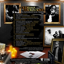 DJ Drama & Cookin Soul The Notorious B.I.G. Tribute Back Cover