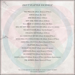 D-WHY Don't Flatter Yourself Back Cover
