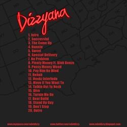 E Dot DizZy Dizzyana Back Cover