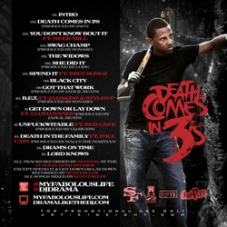 DJ Drama & Fabolous TiNC3: Death Comes In 3's Back Cover