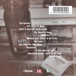 DJ Green Lantern & Fashawn Ode To Illmatic Back Cover