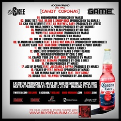 DJ Skee & The Game Hoodmorning (No Typo): Candy Coronas Back Cover