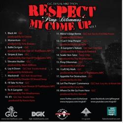GLC Respect My Come Up Vol. 1: Pimp Dilemmas Back Cover