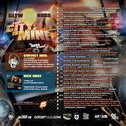 DJ Glew & Rick Ross The City Is Mine Back Cover