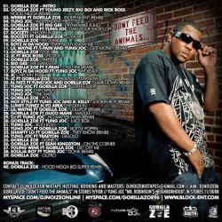 DJ Noize & Gorilla Zoe Unleash The Beast Back Cover