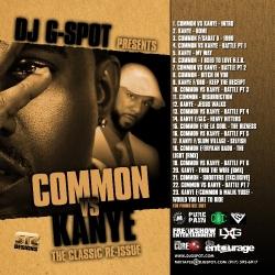 DJ G-Spot Common Vs. Kanye Back Cover