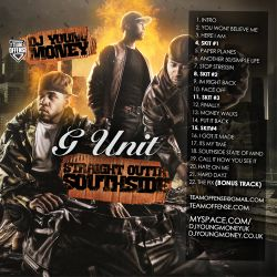 DJ Young Money G-Unit 'Straight Out Of Southside' Front Cover