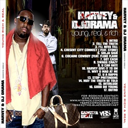 DJ Drama & Harvey Young, Real & Rich Back Cover