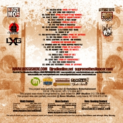 DJ Radio & Streetsweepers Reload Rebuild Mixtape Back Cover