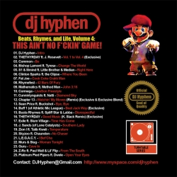 DJ Hyphen Beats, Rhymes, And  Life Vol. 4 Back Cover